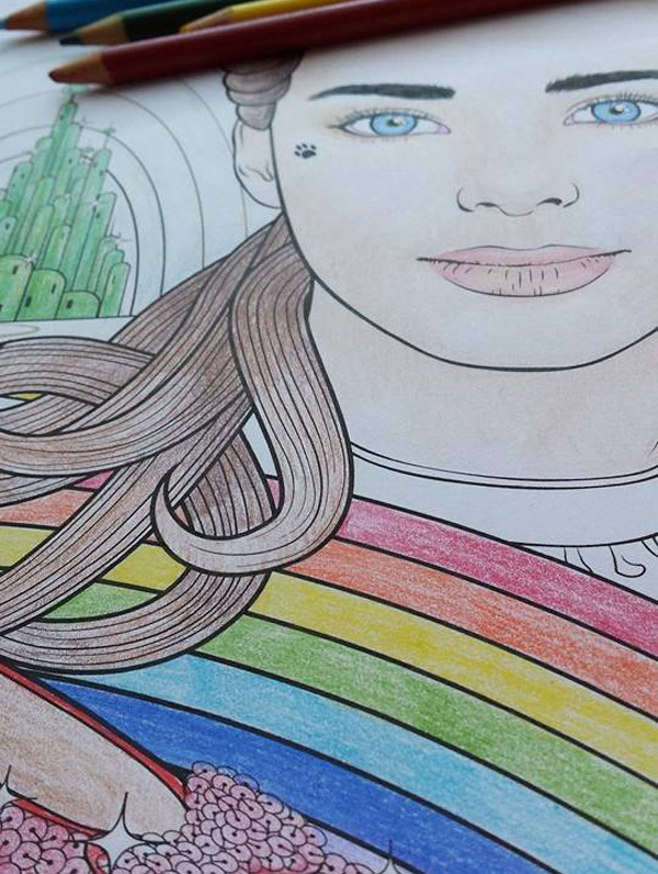 Coloured in Dorothy Gale