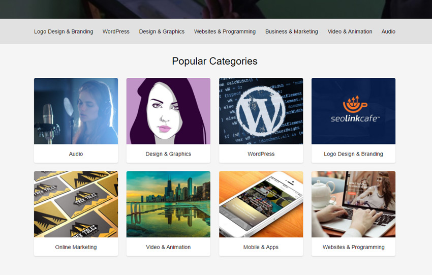 Popular Categories on Envato Studio