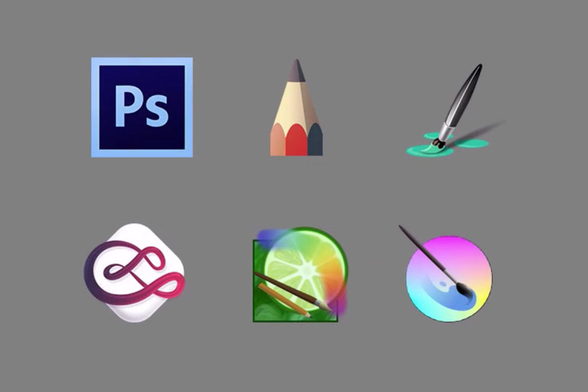 Software available for digital drawing