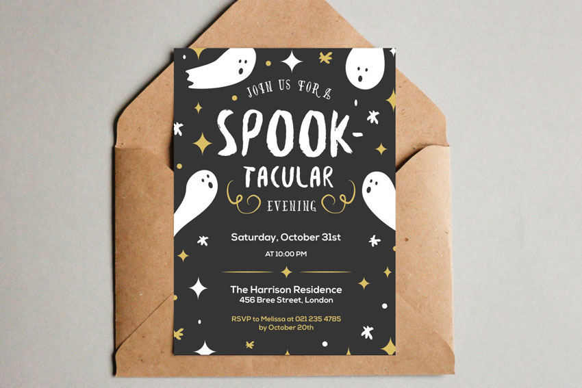 64 Awesome Halloween Invitations and Flyers for Your Spooky ...
