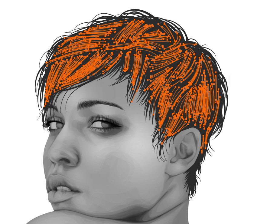Adding details to the hair