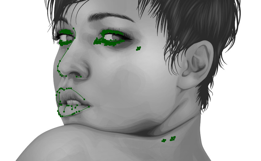 Adding details to the face
