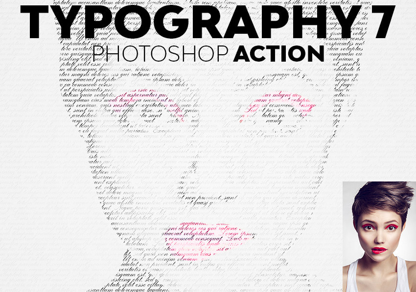 Typography Photoshop Action