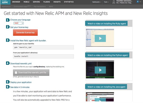 Setting Up New Relic
