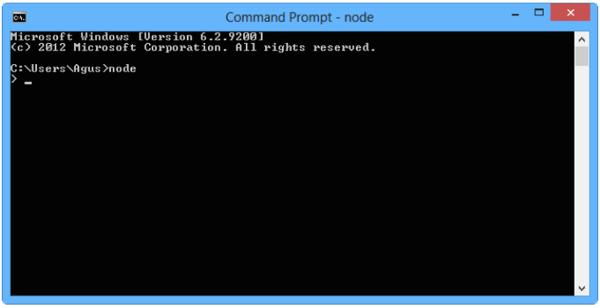 Running Nodejs from Command Prompt