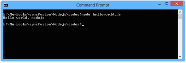 Hello world application for Nodejs