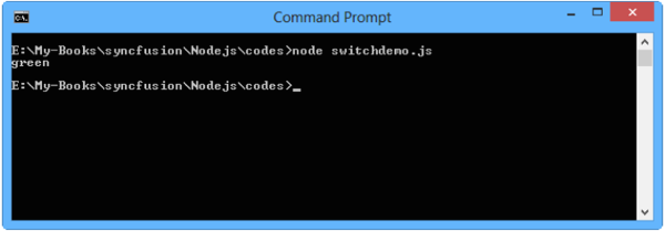 Program output for switchcase