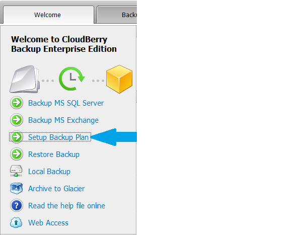 CloudBerry Backup Enterprise Edition