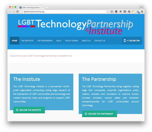 LGBT Technology Partnership Institute