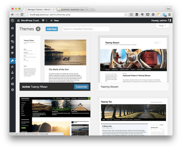 Installed WordPress Themes