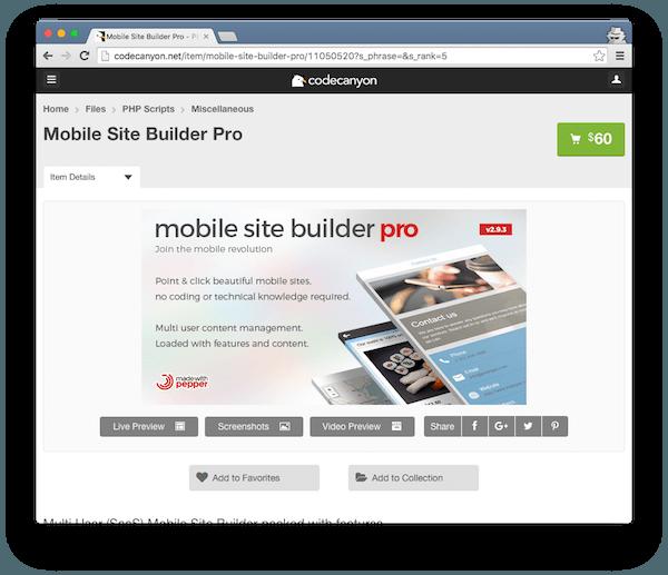 Mobile Site Builder Pro