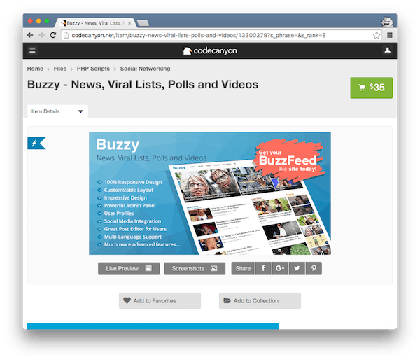 Buzzy for News Lists Polls and Videos