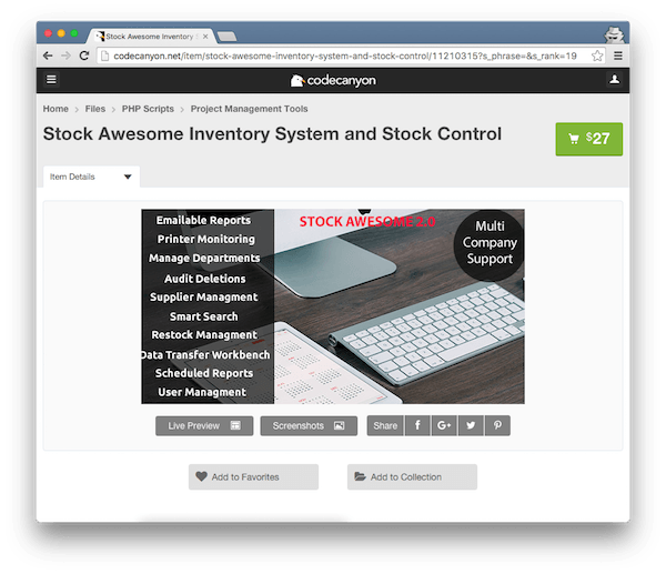 Stock Awesome Inventory System