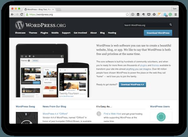 The WordPress Homepage