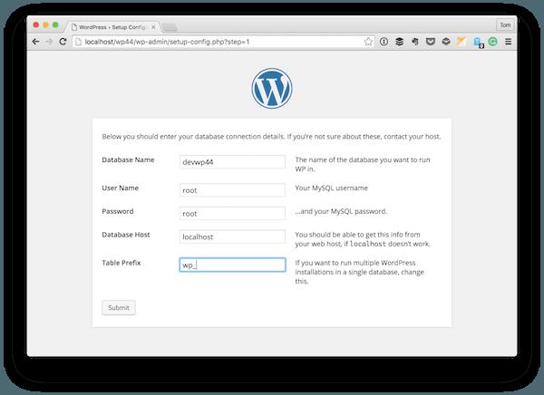 The WordPress Configuration Settings