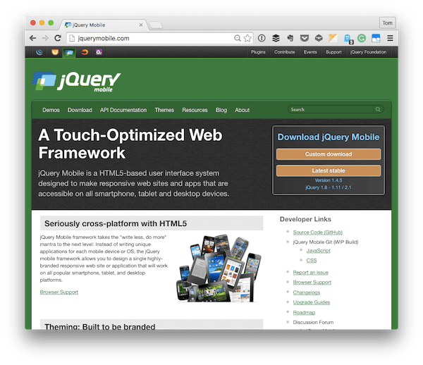 The jQuery Mobile Homepage