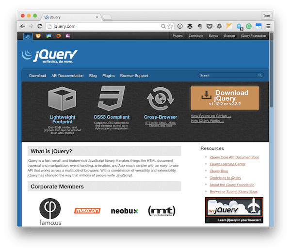 The jQuery Homepage