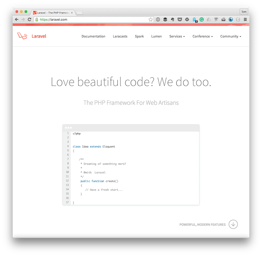 The Laravel Homepage