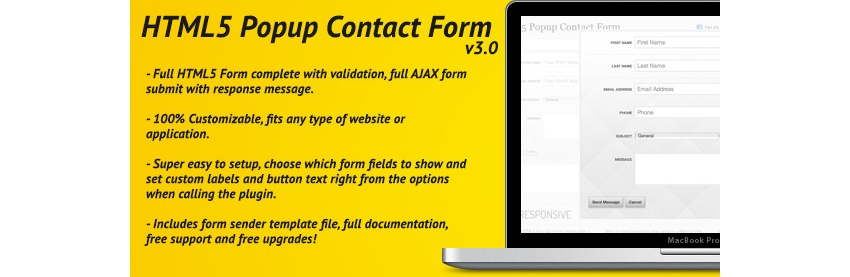 HTML5 Pop-Up Contact Form With Ajax