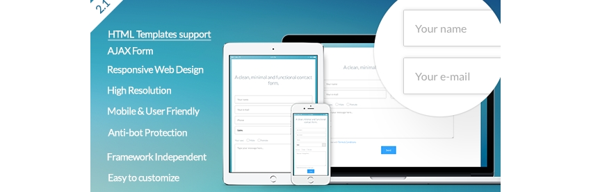 Vanilla Form - Modern  Responsive Contact Form