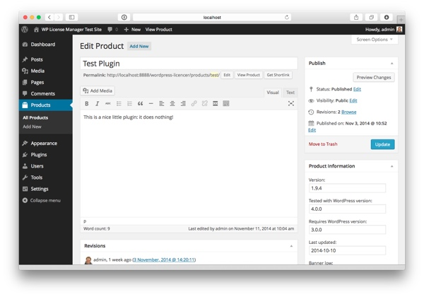 WordPress plugin screenshot