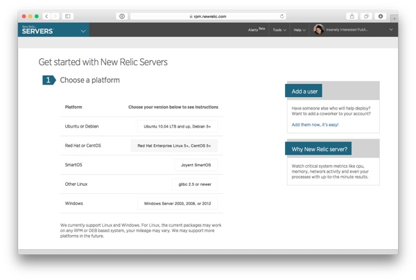 Get started with New Relic Servers