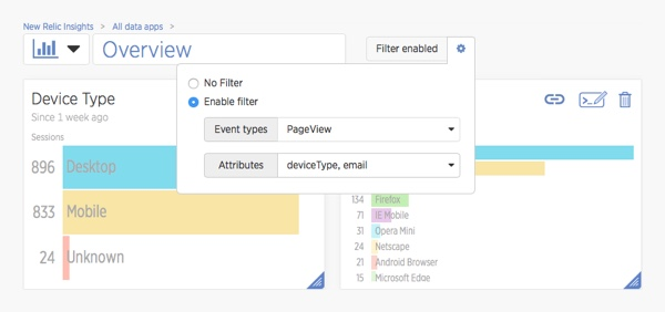 Edit filter to allow filtering by email address
