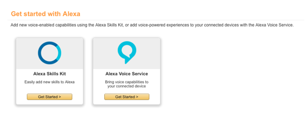 Select Alexa Skills Kit