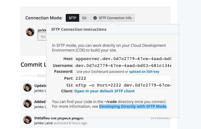 SFTP Connection Instructions