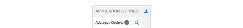 Download your application settings