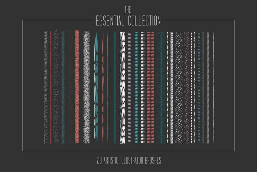 Essential Artistic Illustrator Brush Collection