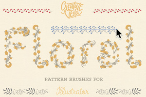 Free Floral Pattern Brushes For Illustrator