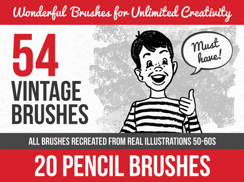 54 Vintage Illustrator Brushes
