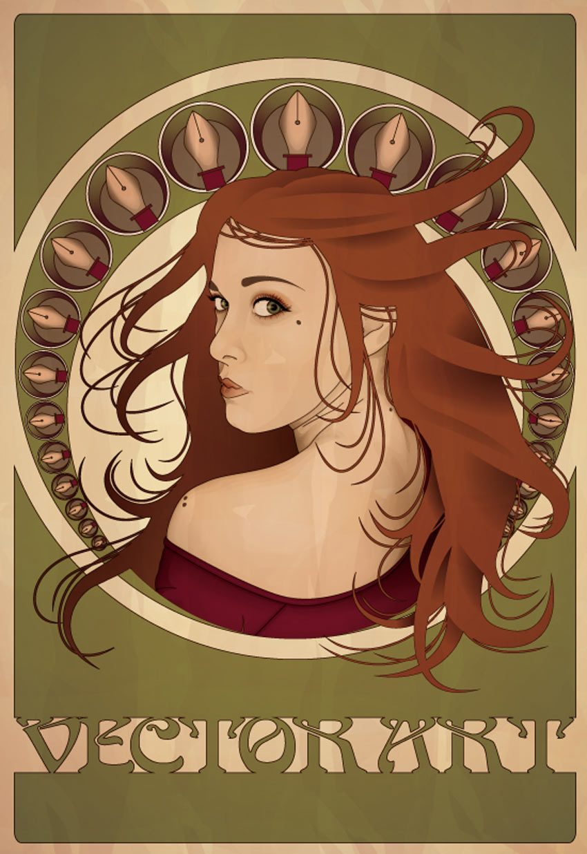 Art Nouveau Poster Adobe Illustrator Tutorial