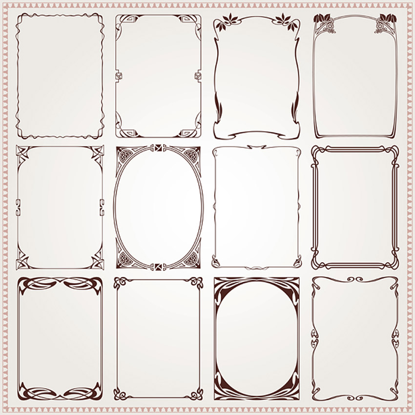 Art Nouveau - Decorative Frames and Borders