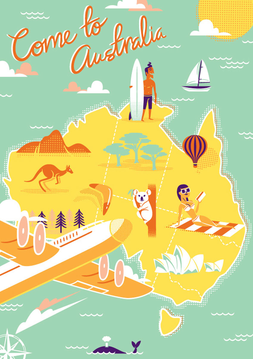 How to Create a Retro Style, Airline Destination, Travel Poster