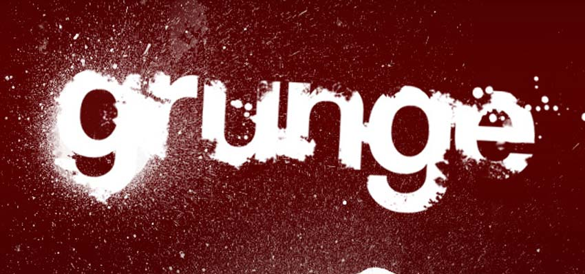 Grunge Type Photoshop Tutorial