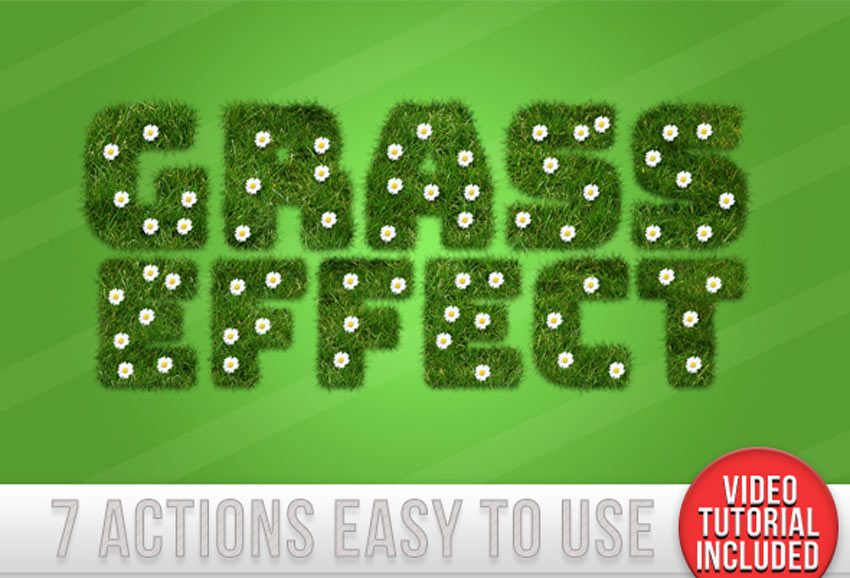 Grass Text Effect Generator