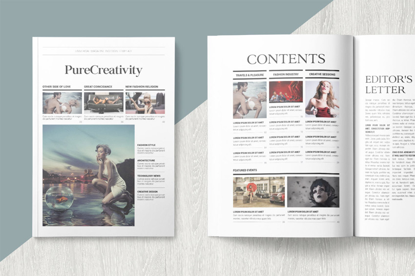 Pure Creativity Magazine Template