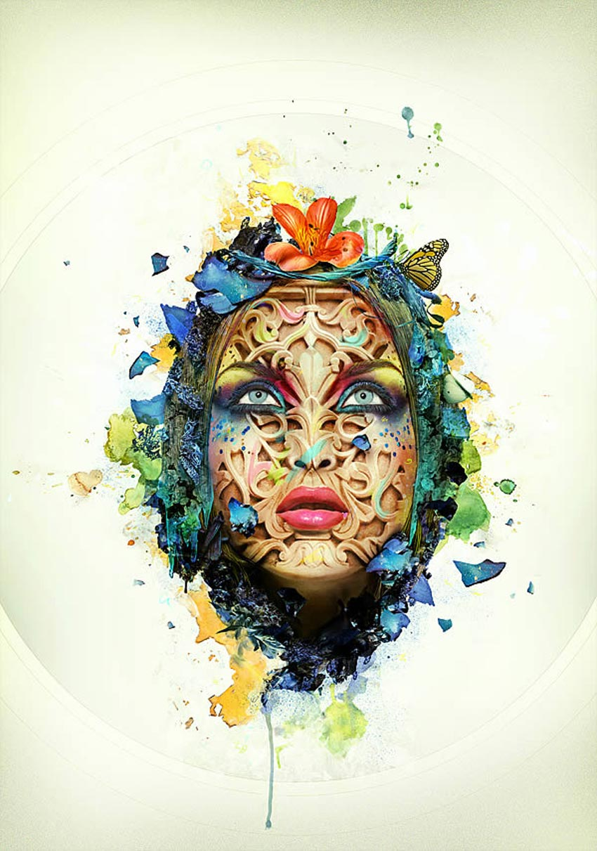 How to create a beautiful abstract portrait in photoshop final product image baditri Gallery