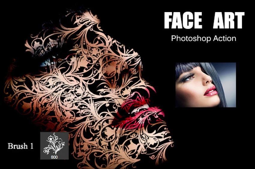 Face Art Photoshop Action