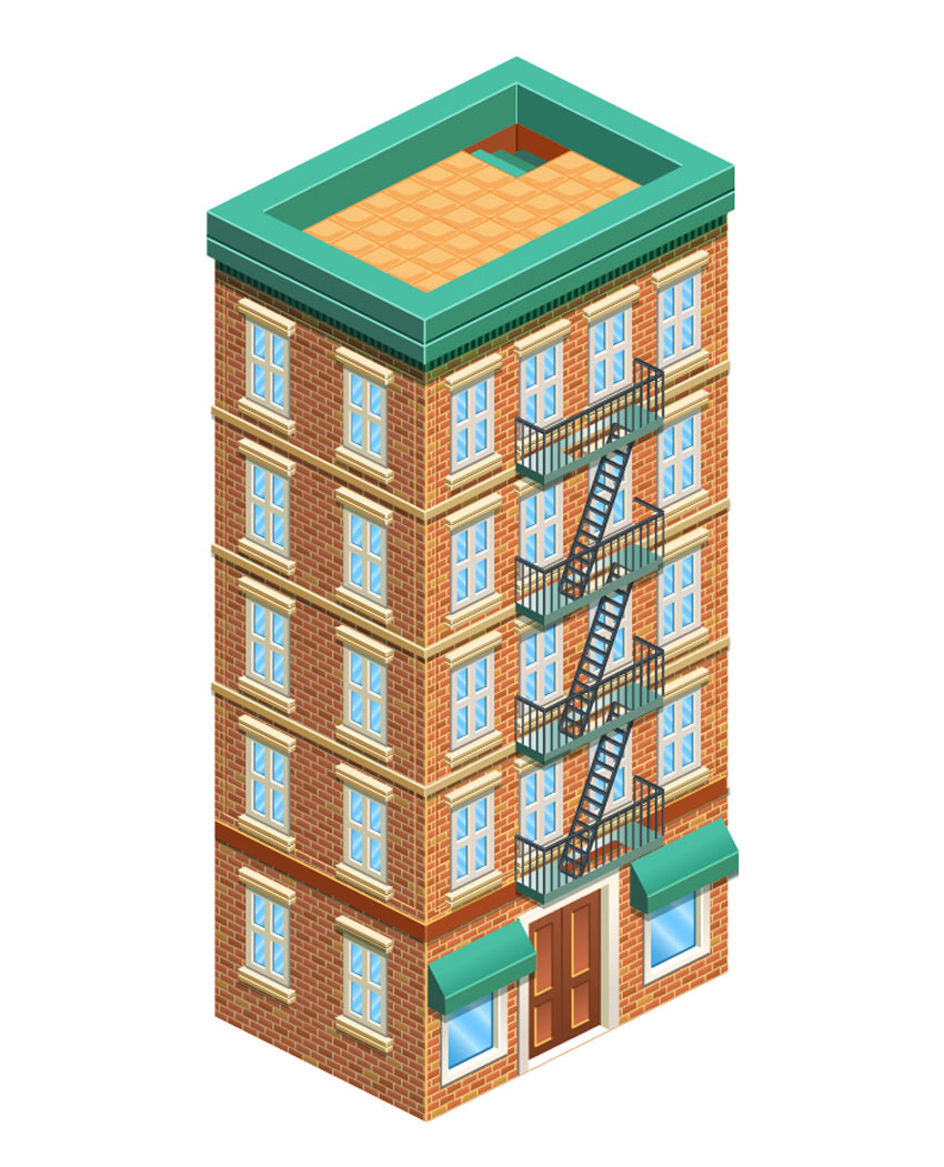 Isometric Building Adobe Illustrator Tutorial