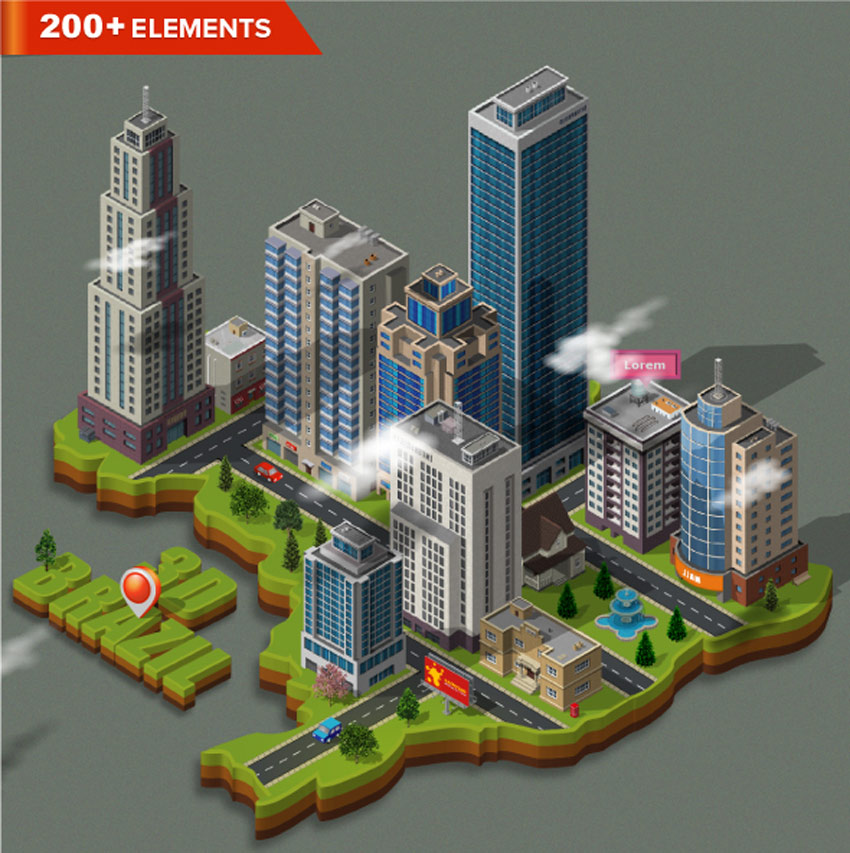 How to create a detailed isometric building in adobe for 3d building creator