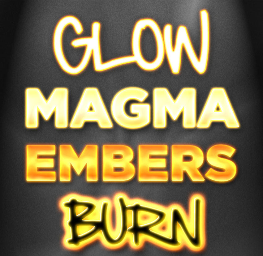 5 Fire and Glow Styles
