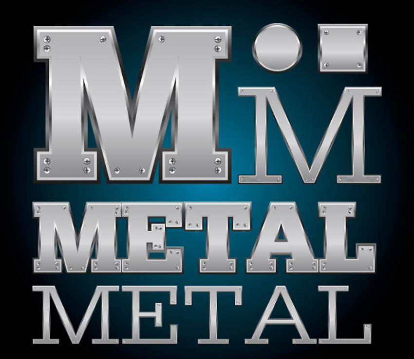 Metal Plate Illustrator Graphic Style