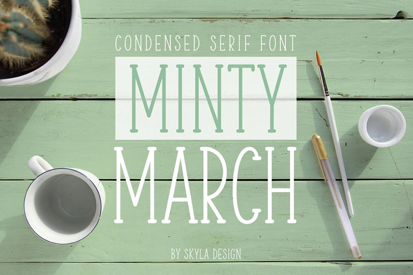 Minty March Font