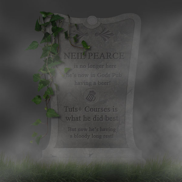 Neil Pearce Gravestone