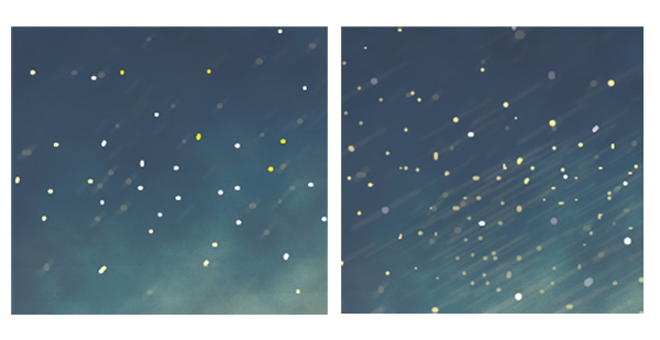Paint Stars in the Sky