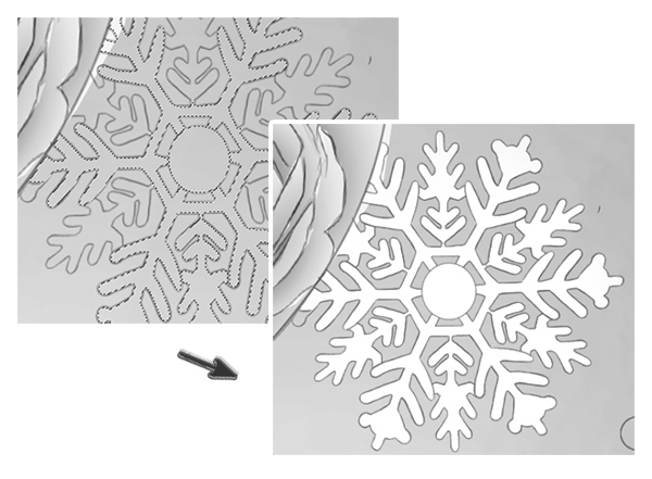 Fill the Snowflakes with White