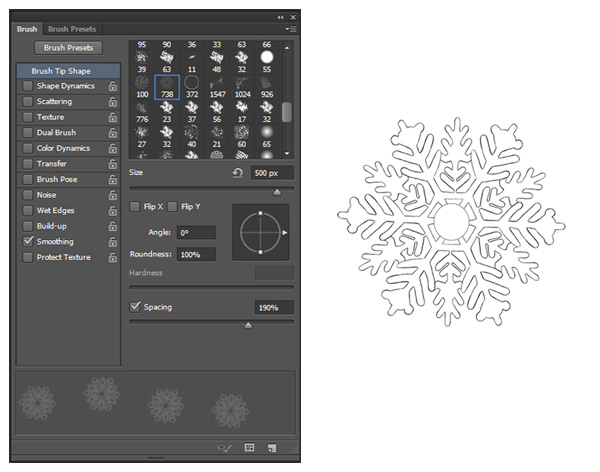 Create a Custom Snowflake Brush